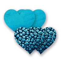 Nippies® Wild Child Blue Leopard Heart Pasties