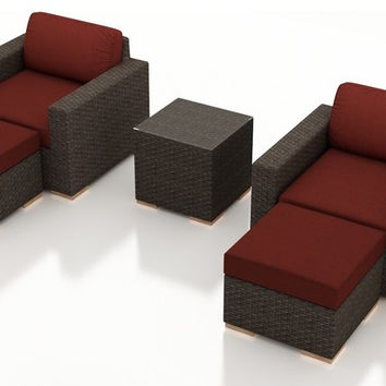 2016 Living Room Furniture 5 Piece Outdoor Club Chatting Rattan Chair Set