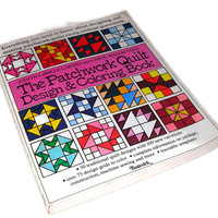 The Patchwork Quilt Design and Coloring Book by Judith LaBelle Larsen & Carol Waugh Gull,Vintage Quilt Craft Book, US Shipping Included