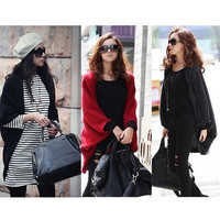 New Women's Batwing Cape Poncho Cardigan Sweater Knit Tops Shawl Coat 3 Color  G0025 One Size