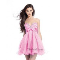 A-Line Sweetheart Mini-Length Organza Prom Dress SAL1076