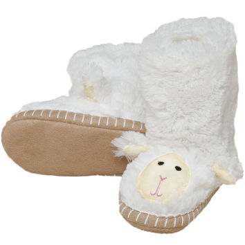 Lamb Youth Fuzzy Fleece Slippers
