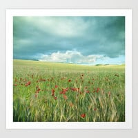 Spring poppies. Vintage Art Print by Guido Montañés