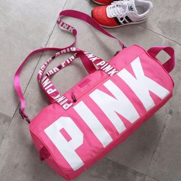 DCCKHI2 PINK Victoria'S Secret Sports And Fitness Yoga Short Travel Bag