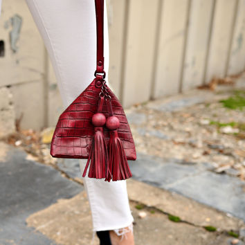 Pyramid Leather Bag - Multiple Colors