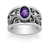 Abounding Vine Ring with Amethyst: James Avery
