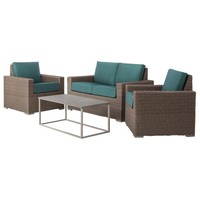 Threshold™ Heatherstone Wicker 4-Piece Patio Conversation Furniture Set