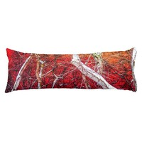 Red winter night body pillow