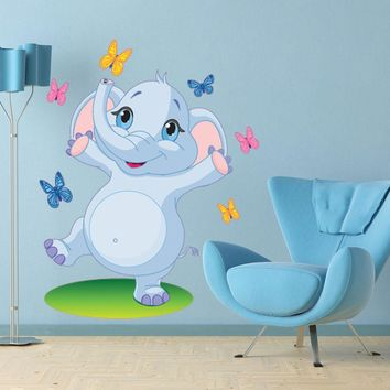 Dancing Elephant Wall Decal for Kids