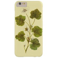 Vintage Illustration of a Round Leaved Mallow Barely There iPhone 6 Plus Case