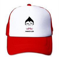 TOMLE Markiplier Warfstache Logo Snapback Mesh Caps Adjustable Printing Baseball Hats