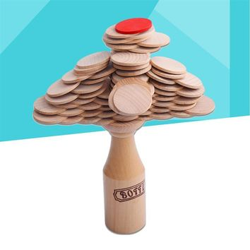 Wood Bottle Challenge Match Pile Up Stacking Entertainment Balance Training Toy for Adults Kids Bar Club Party