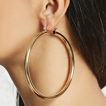 Latched Hoop Earrings