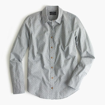 J.Crew Womens Perfect Shirt In Heather Flannel Dot