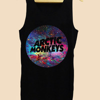 Funny Tank top Arctic Monkeys Galaxy Nebula, Tank top Mens and Tank top girl Size S-XXL by AkuKuduKuat