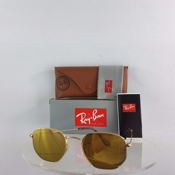 Cheap Brand New Authentic Ray Ban RB 3548 Sunglasses 001/93 Gold Mirrored 51mm RB3548 outlet