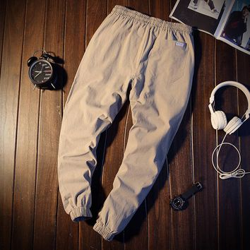 Mens Joggers Men's Ankle Length Harem Pants Casual Drawstring Trousers Cotton And Linen Pants Harajuku 2018 Summer Clothes