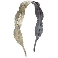 Green BCBG Leaf Headband