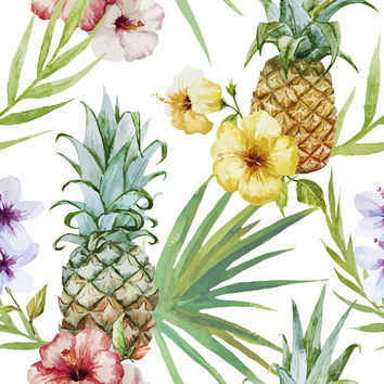 Pineapple Paradise Removable Wallpaper