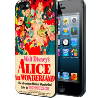 Vintage, Alice In Wonderland Poster Samsung Galaxy S3 S4 S5 Note 3 , iPhone 4 5 5c 6 Plus , iPod 4 5 case, HtC One M7 M8
