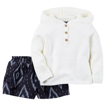 2-Piece Pullover & Short Set