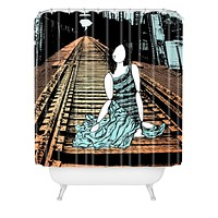 Amy Smith Meet me at the bridge Shower Curtain