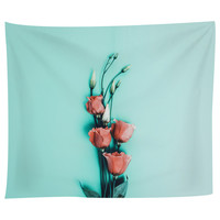 Mint and Roses Tapestry