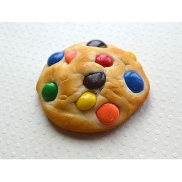 Rainbow Candy Cookie Magnet, Polymer Clay faux mini fridge food magnet
