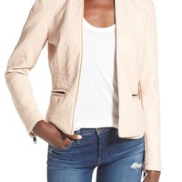BLANKNYC Faux Leather Open Front Jacket | Nordstrom