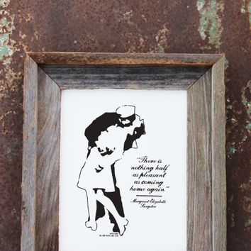 Famous V-J Day Sailor Kiss Print