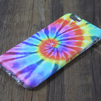 Rainbow Tie-Dye Tough Protective iPhone 6s Case iPhone 7 plus SE S7 Edge Snap Case 3D 200