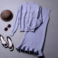 Autumn and winter women's solid color fashion suit autumn and winter women