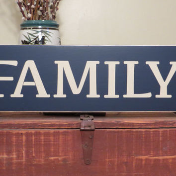 Family custom wood sign - shelf sitter - wall hanging - home decor