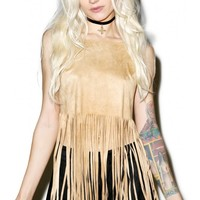 Genesis Fringe Crop Top | Dolls Kill