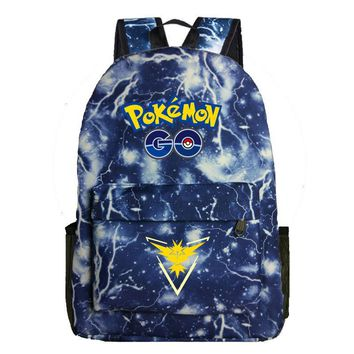 Go Team Instinct Galaxy Backpack School Backpack Womens Mens Travel Laptop Backpack Teens  School BagKawaii Pokemon go  AT_89_9