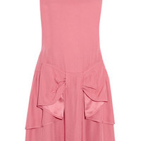 RED Valentino Bow-embellished crepe dress – 60% at THE OUTNET.COM