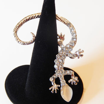 Crystal Lizard Ear Cuff
