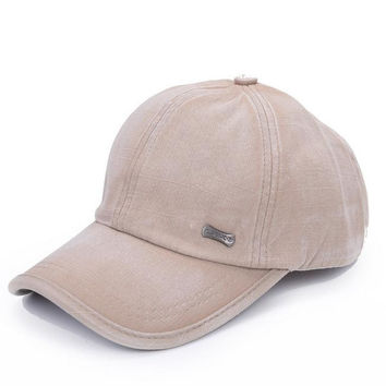 Unisex Solid Washed Hip Hop Baseball Cap Hat