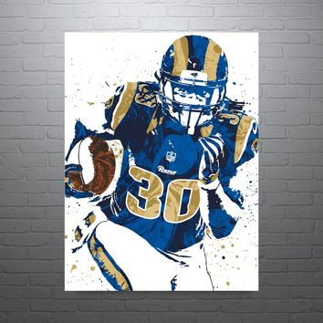 Todd Gurley Los Angeles Rams Football Poster