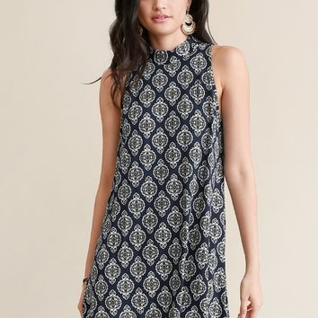 Found Luck Printed Dress