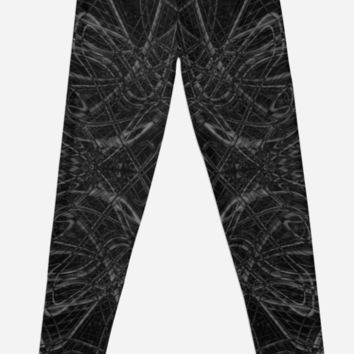 'Dark psychedelic pattern' Leggings by steveball