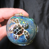 Glass Pipes Sea Life with Sea Turtle Collectable Tobacco Pipe