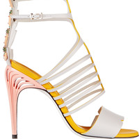 Fendi - Embellished leather sandals