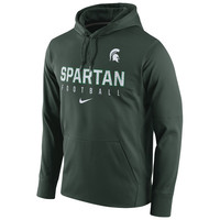 Nike Michigan State Spartans Green Circuit Therma-FIT Performance Hoodie