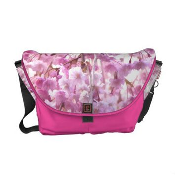 Pink Weeping Willow Flowering Tree Messenger Bag from Zazzle.com