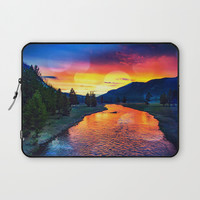 Sunset at Yellowstone Laptop Sleeve by minx267