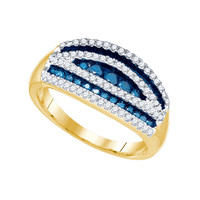 Blue Diamond Fashion Ring in 10k Gold 0.7 ctw