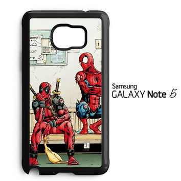 Funny Spiderman and Deadpool Samsung Galaxy Note 5 Case