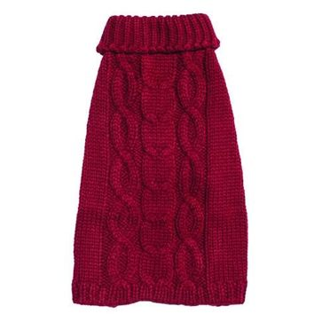 Aran Cable Sweater Red