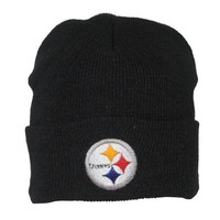 NFL Pittsburgh Steelers Adult Ski & Skate Roll Up Beanie / Winter Hat